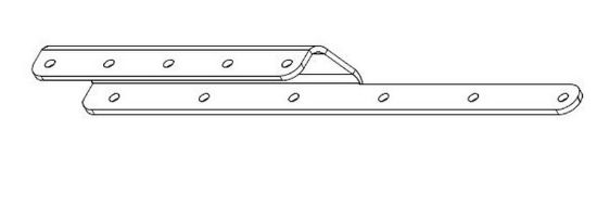 Picture of E314033 - L LEG SUPT BATTERY PLATE LST