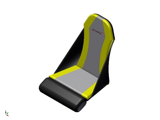 Picture of E162520-J - YELLOW GTE TREK FRONT SEAT