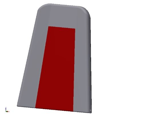 Picture of E307000-R - RED FRONT SEAT BACK ARV