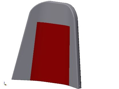 Picture of E307010-R - RED REAR SEAT BACK ARV